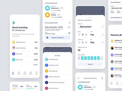 M - Mobile App product design web design doctors patients schedule healthcare health medical application dashboard user experience user interface ux ui web design iphonex ios app mobile