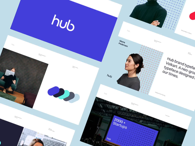 TheHub - Brand Guidelines hub startup brand book social media imagery patterns typography colors logotype logo design website web visual identitiy brand branding brand guidelines