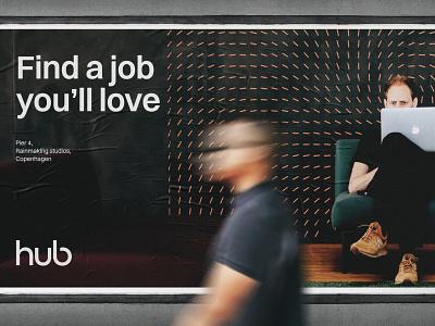 TheHub - Poster #2 brand guidelines branding brand visual identitiy web website design logo logotype colors typography patterns imagery social media brand book startup hub