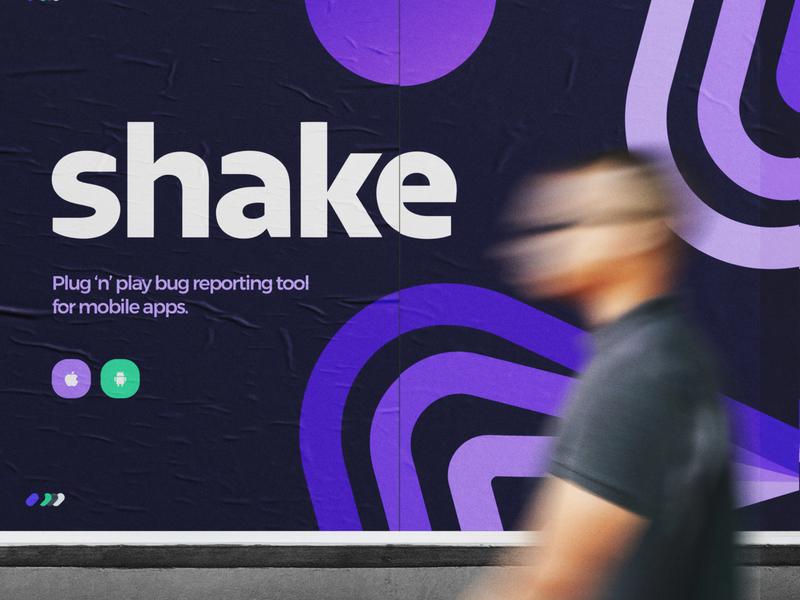 Shake - Brand agency rebrand design system logotype colors typography design poster mockup type branding visual identity mark logo brand