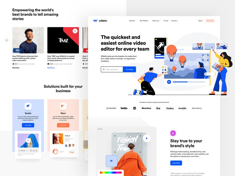 Wibbitz - Home product design web design ux ui development cms illustration identity visual type logo branding brand video app web design website business