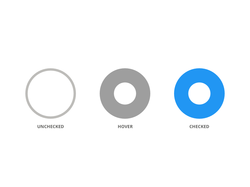 Radio Button by Mitchell Geere on Dribbble