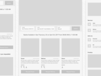 Early Wireframes for New Client