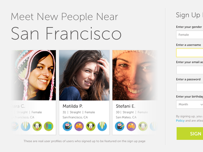 Sign Up Variation