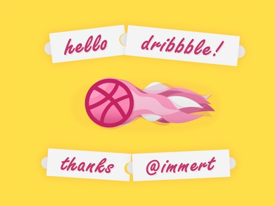 Hello dribbble! Thanks Mert!