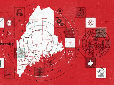 Roux Institute portland texture grunge graphic design education technology blog illustration maine boston roux