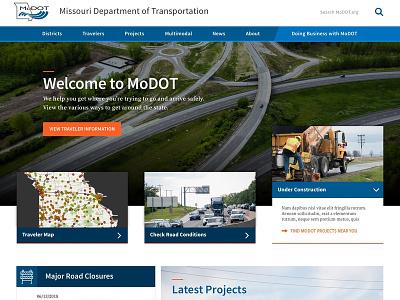 MoDOT Comp modot government transportation missouri ui design typography website