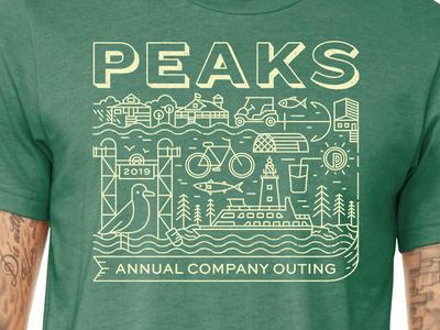 Final Color Mockup branding design maine grunge vector illustration shirt