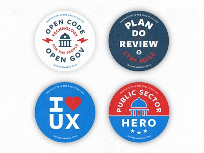 Conference Buttons branding government design typography texture vector illustration badge button
