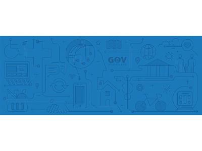 Conference Banner design branding government maine vector illustration