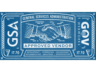 GSA Award vintage design logo government grunge texture illustration