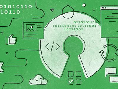 Open Source best practices code drupal blog design texture illustration development open source