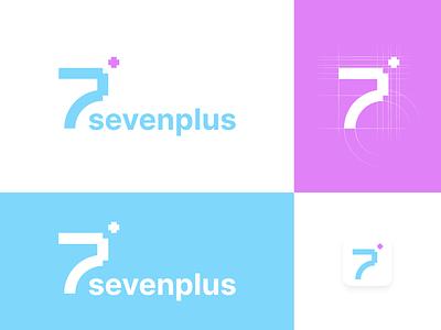 UI Design Challenge - Day 5 - Logo & Icon - sevenplus icon app icon pastel graphic design medical typography illustration application branding logo design ui minimal flat