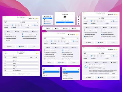 EzKey - Vietnamese Input Source Application on macOS light mode dark mode languages application design minimal flat web app macos motion graphics animation ui