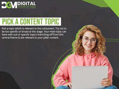 pick a content topic seo content marketing social media email marketing digital marketing