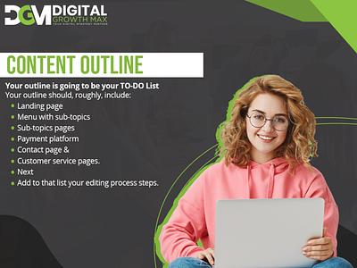 content outline seo facebook marketing social media email marketing digital marketing