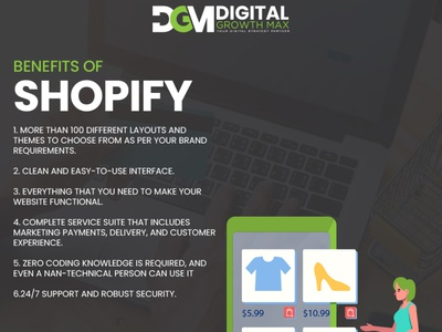 Benefit of shopify design social media digital marketing website design