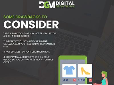 Drawbacks design social media digital marketing website design