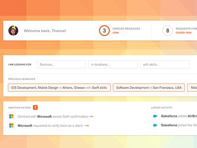 User Dashboard saas dashboard