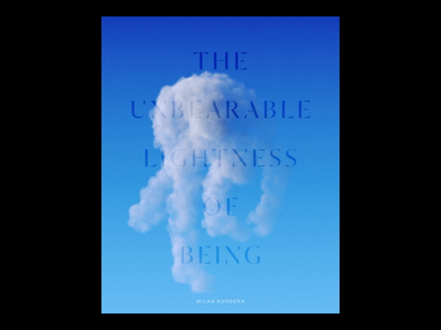 The Unbearable Lightness of Being 3d artist motion graphics motion design octane render redshift houdini cinema 4d 3d graphic design typogaphy book cover design animation