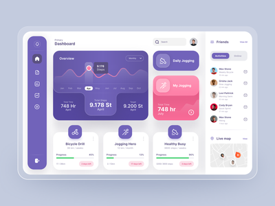 Fitness Tracker Dashboard mobile ios app design app design mobile design website design website landing page landing page design homepage design homepage