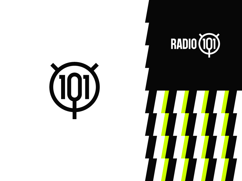 Radio 101 alternative music microphone bolt logo 101 radio