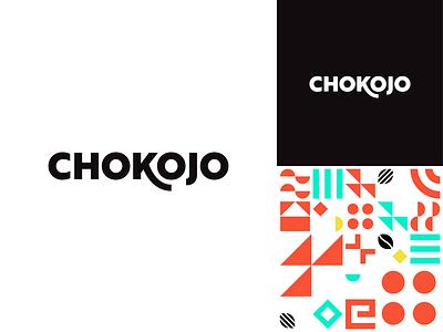 Chokojo mayan aztec pattern caffeine branding geometric fairtrade logotype wordmark coffee funky typography mexico chocolate modern vector logo