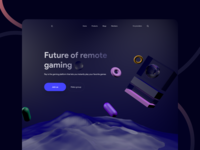 Cloud gaming landing page 3d art cloud gaming gradient concept web landing c4d 3d design app ux minimal ui
