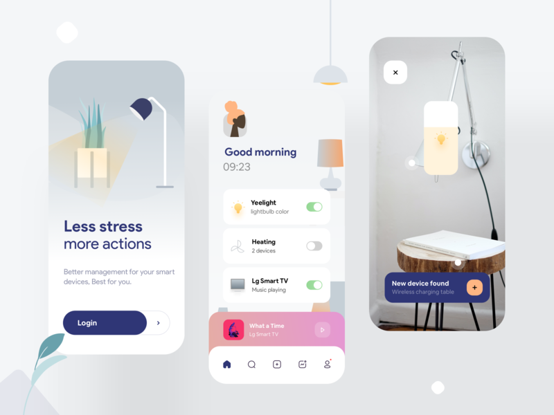 Smart home app smarthome lights lg home smart illustraion concept design mobile iphonex app ios ux minimal ui logo