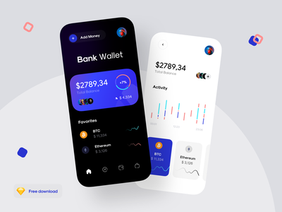 Crypto concept app money app graph dashboard phone mobile team social crypto service bitcoin services bank design concept bitcoin finance money wallet ui