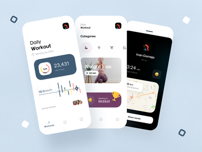 Daily workout app social dashboard concept design app ux ui app design mobile workout app workout tracker workout ios minimal