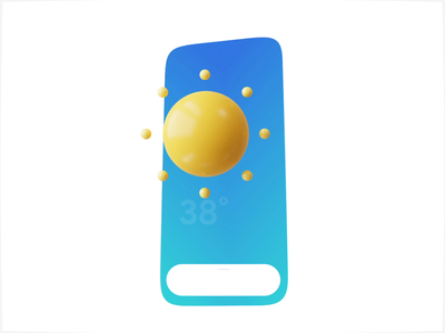 Weatherly motion design 3d iphonex gradient sunny weather after effect animation motion mobile app ux ui ios
