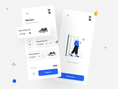 Nipo | UI Kit vector concept mobile minimalist puma nike style shoes store shoe flat fashion ecomerce app adidas ui minimal