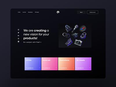 Piqo design website typography design branding illustration product official piqo minimal dark desktop ux ui landing page website