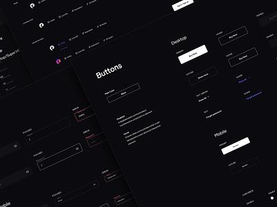 Piqo website design system mobile desktop design input app logo dark concept styleguide website design system button minimal ui