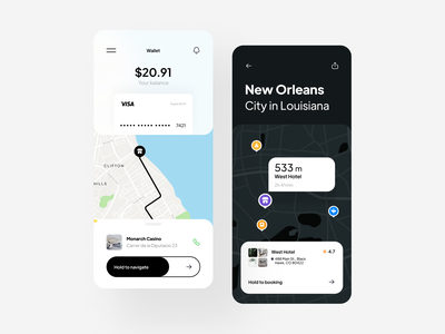 Localy  | UI concept illustration navigation travel book hotel uber concept map icons iconly piqo design mobile app ux ios minimal ui