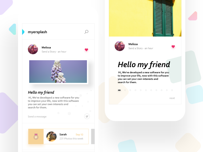 Myersplash social app
