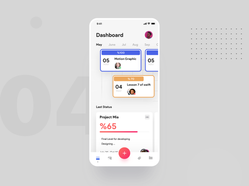 Project management design iphonex managment minimal ios app ux ui
