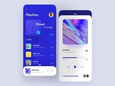 Orizon music player concept album app ui apple music app minimal mobile cover live music player music app iphonex ios ux ui