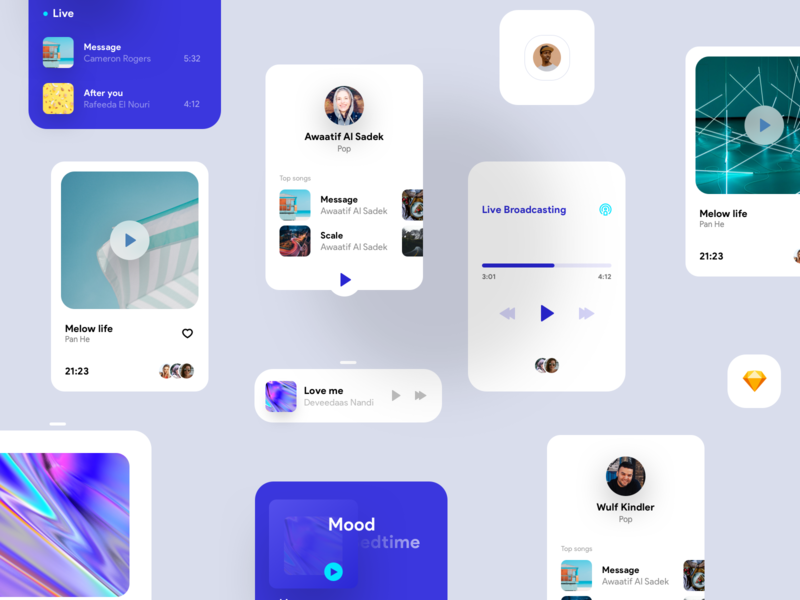 Orizon music player ( Kit ) mobile album cover album live ios iphone music player music app music ux ui app concept kit