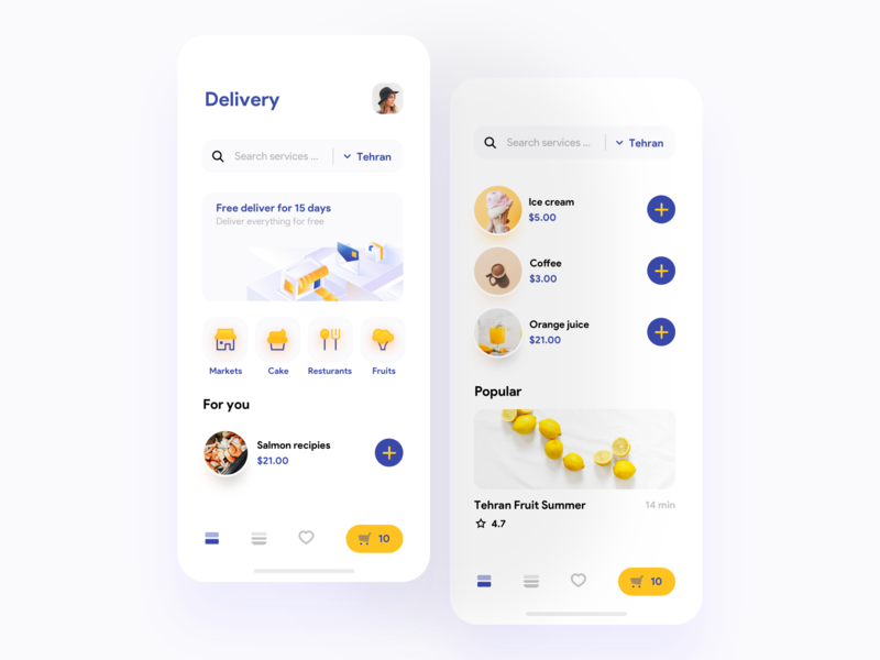 Zoodex Concept add icecream illustrations illustrator concept ios mobile market fruit delivery food app iphonex minimal ux ui