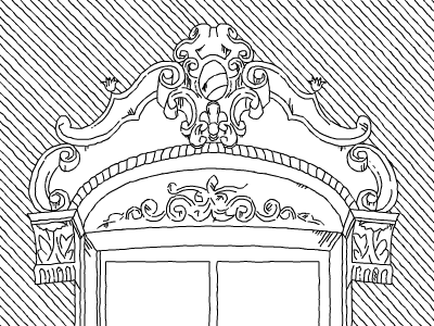 Union Park Window   boston south end architecture architectural sketch window line drawing