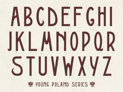 Young Poland, Font #1 (Galicja) vintage art nouveau custom font font letters młoda polska retro secession type treatment typeface typography young poland polish poland