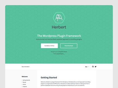 Herbert wordpress plugin framework logo flat brand icon
