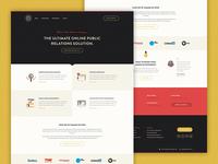 Online Public Relations Company Design