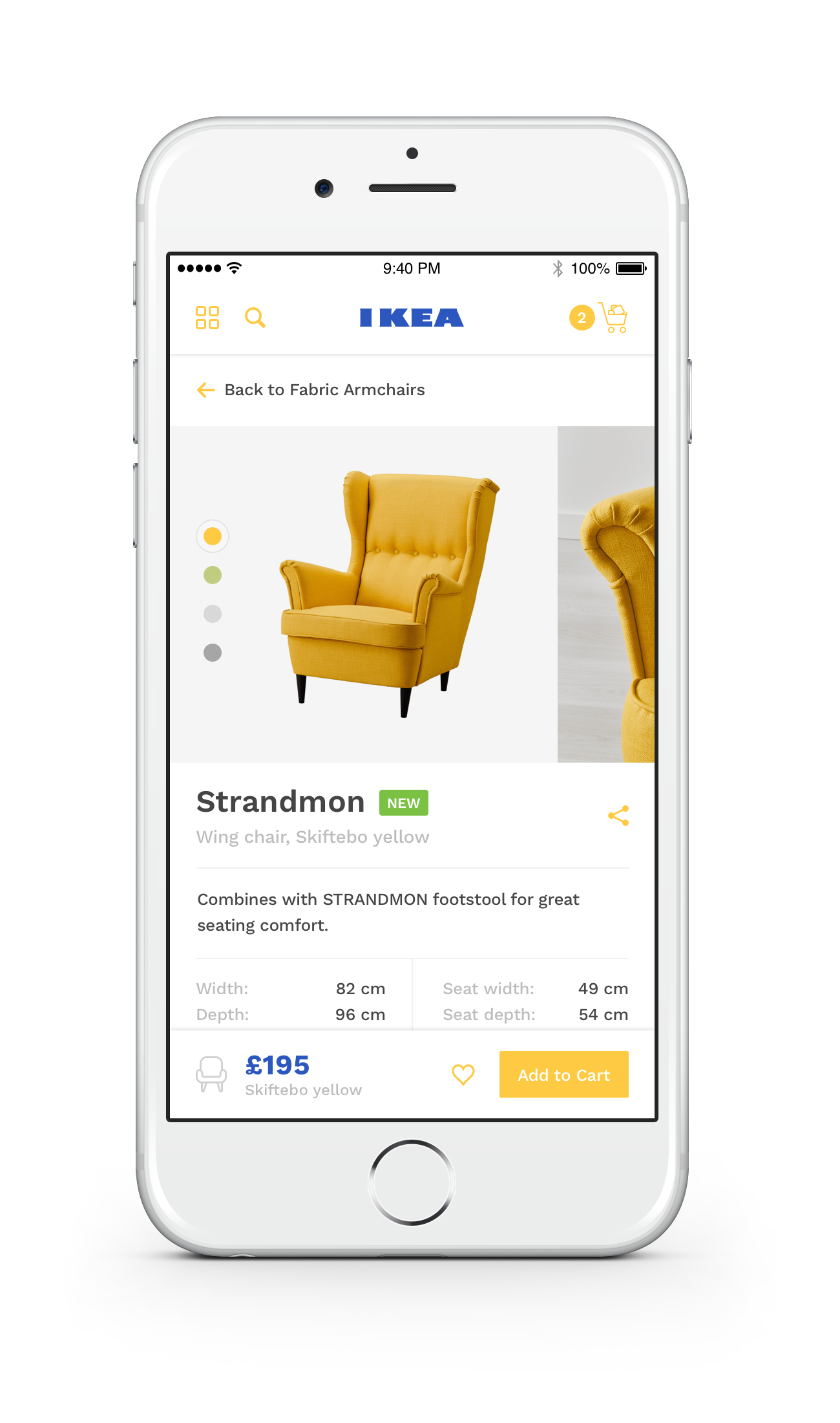 Dribbble ikea iphone 6 by ollie barker for Ikea design app
