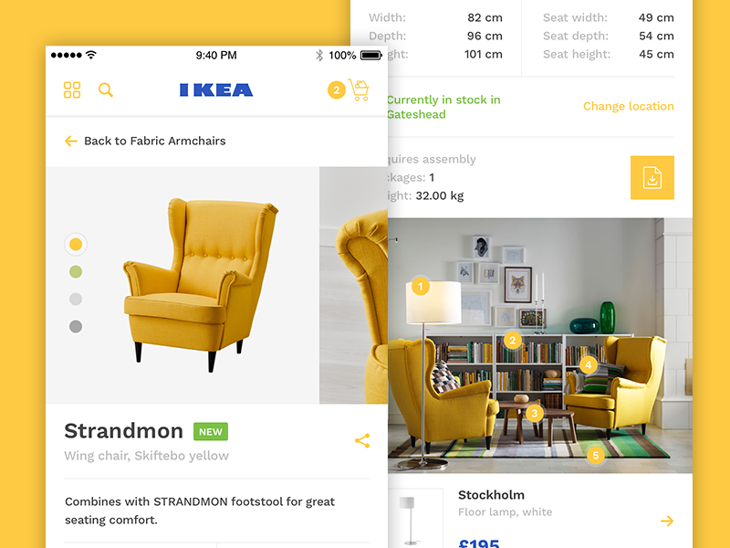 IKEA iOS App Product Redesign concept sweden iphone reserve buy shop store redesign ios product app ikea