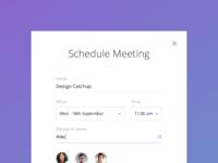Schedule meeting full