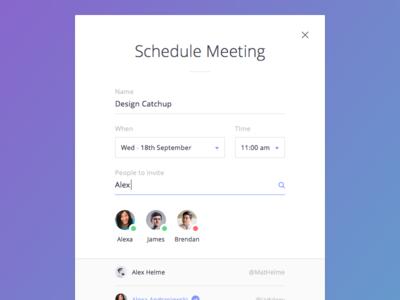 Schedule Meeting Modal