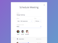 Schedule Meeting Modal